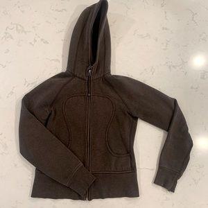 Brown Lululemon scuba hoodie size 6